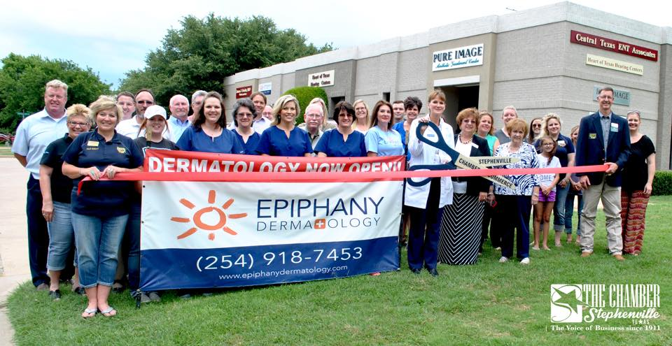 The grand opening of Epiphany Dermatology's Stephenville, TX location