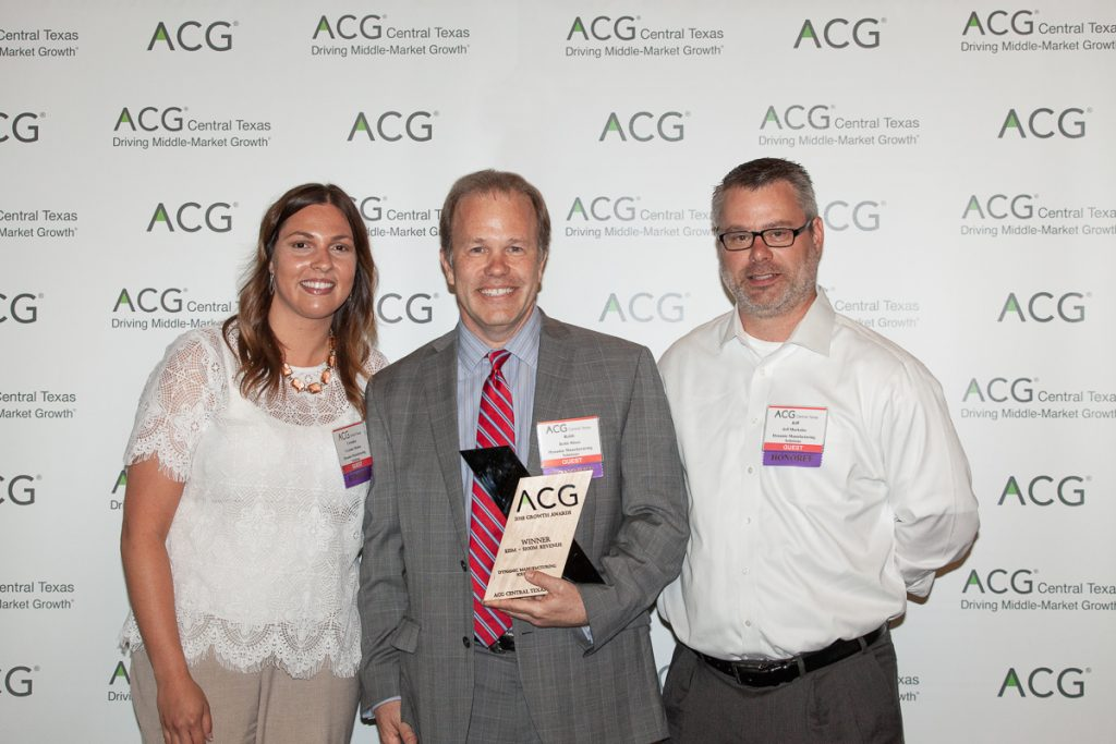 Crystalee Modica, Chief Culture Officer, Robb Misso, Founder & CEO, and Jeff Markulec, VP of Engineering  at Dynamic Manufacturing Solutions