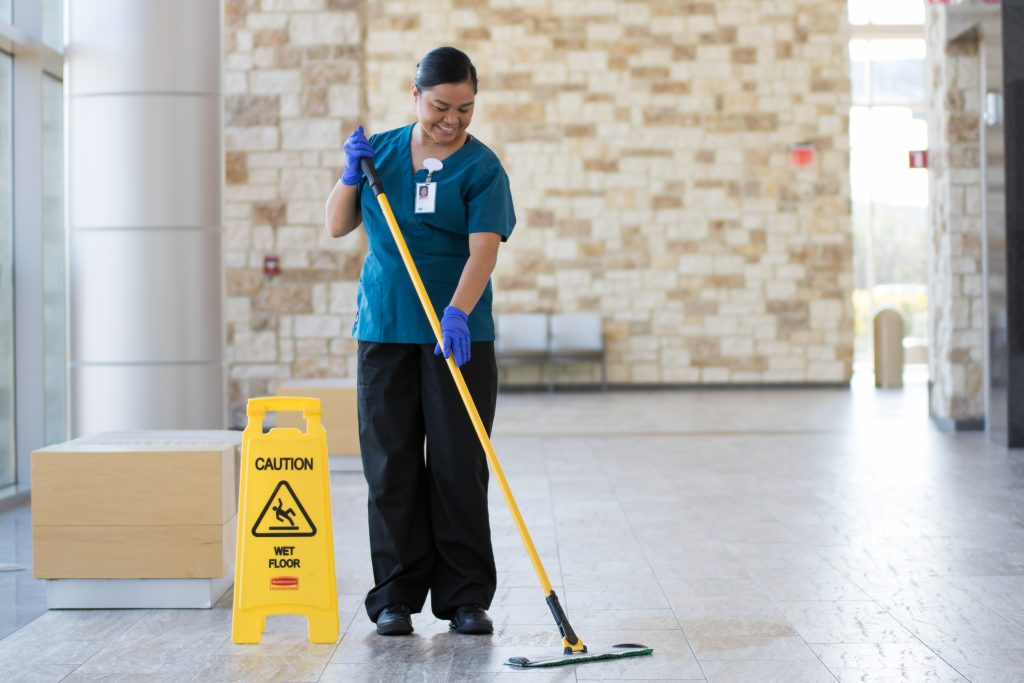 HHS housekeeper at work