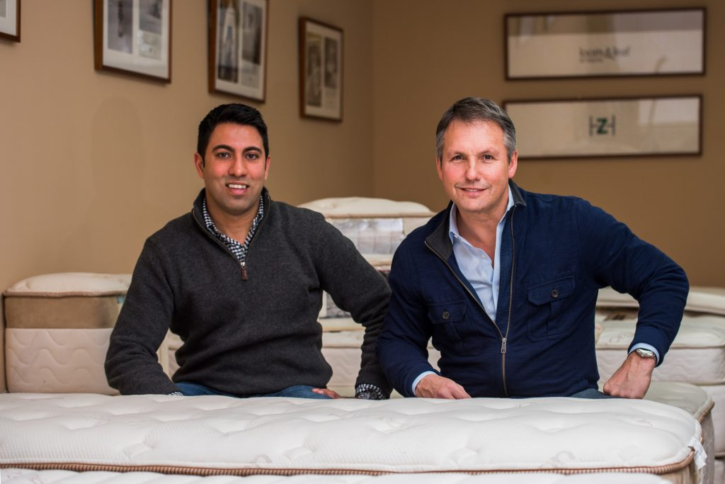 Ricky Joshi, Co-Founder & CMO, and Ron Rudzin, President & CEO of Saatva Luxury Mattress
